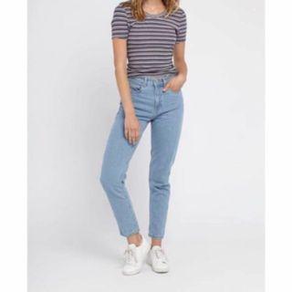 dd615edce5 h&m high waist slit jeans (dark grey), Women's Fashion, Clothes ...