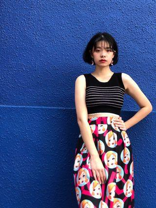 Not vintage rockabilly pin up print skirt