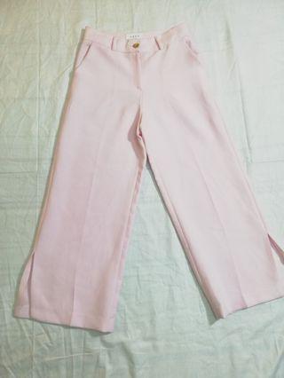 Ngu古著   粉色寬褲