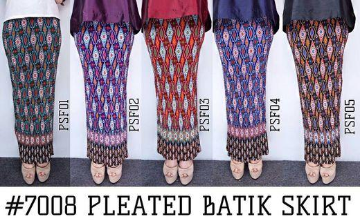PLEATED BATIK SKIRT