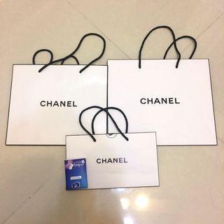 Chanel 紙袋3個