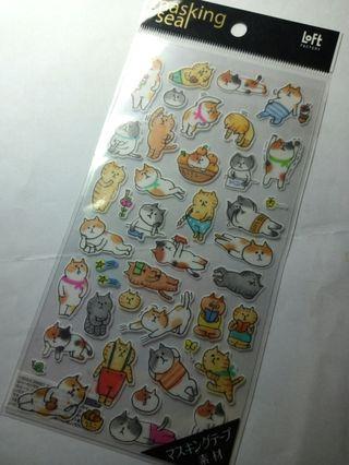 日本loft療癒貓咪貼紙