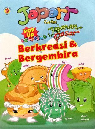 Buku Mewarnai - Jajanan Pasar Berkreasi dan Bergembira Pop Up Coloring