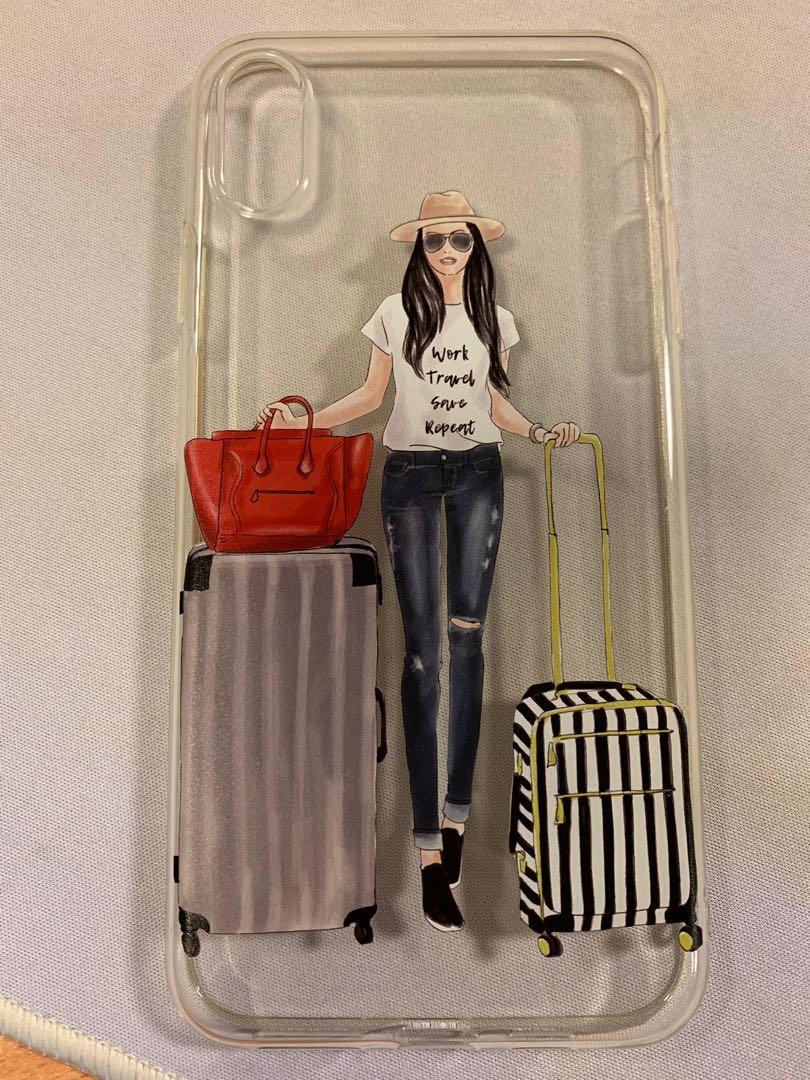 new style d9198 1b9fa 💯 Original Hanogram Case - Travel Girl for iPhone XS Max
