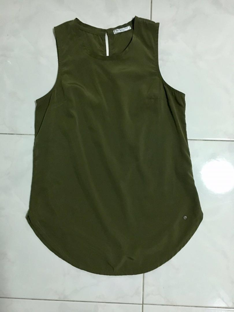 Abercrombie & Fitch Army Green Top
