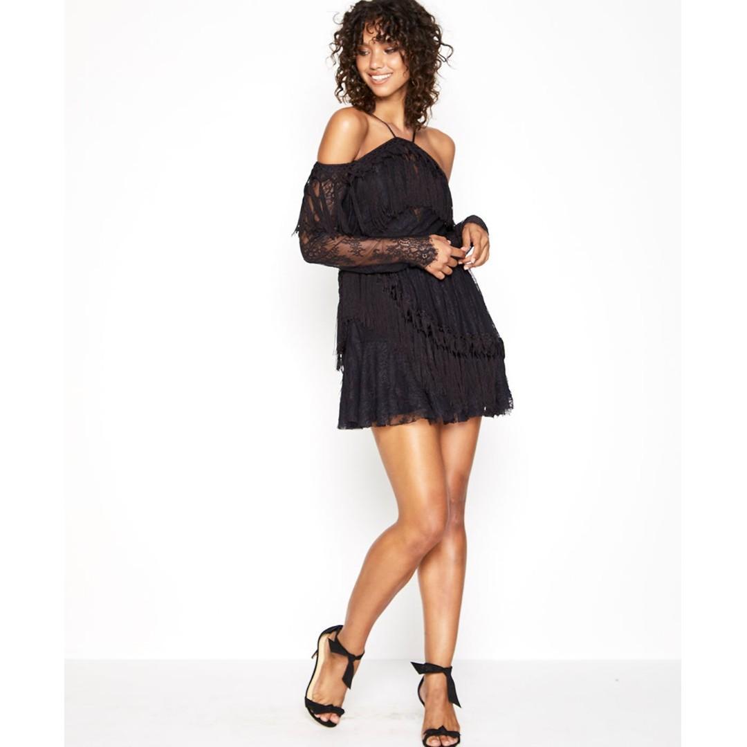 BNWT ALICE MCCALL BLACK SHES COSMIC DRESS - SIZE 12 AU (RRP $450)