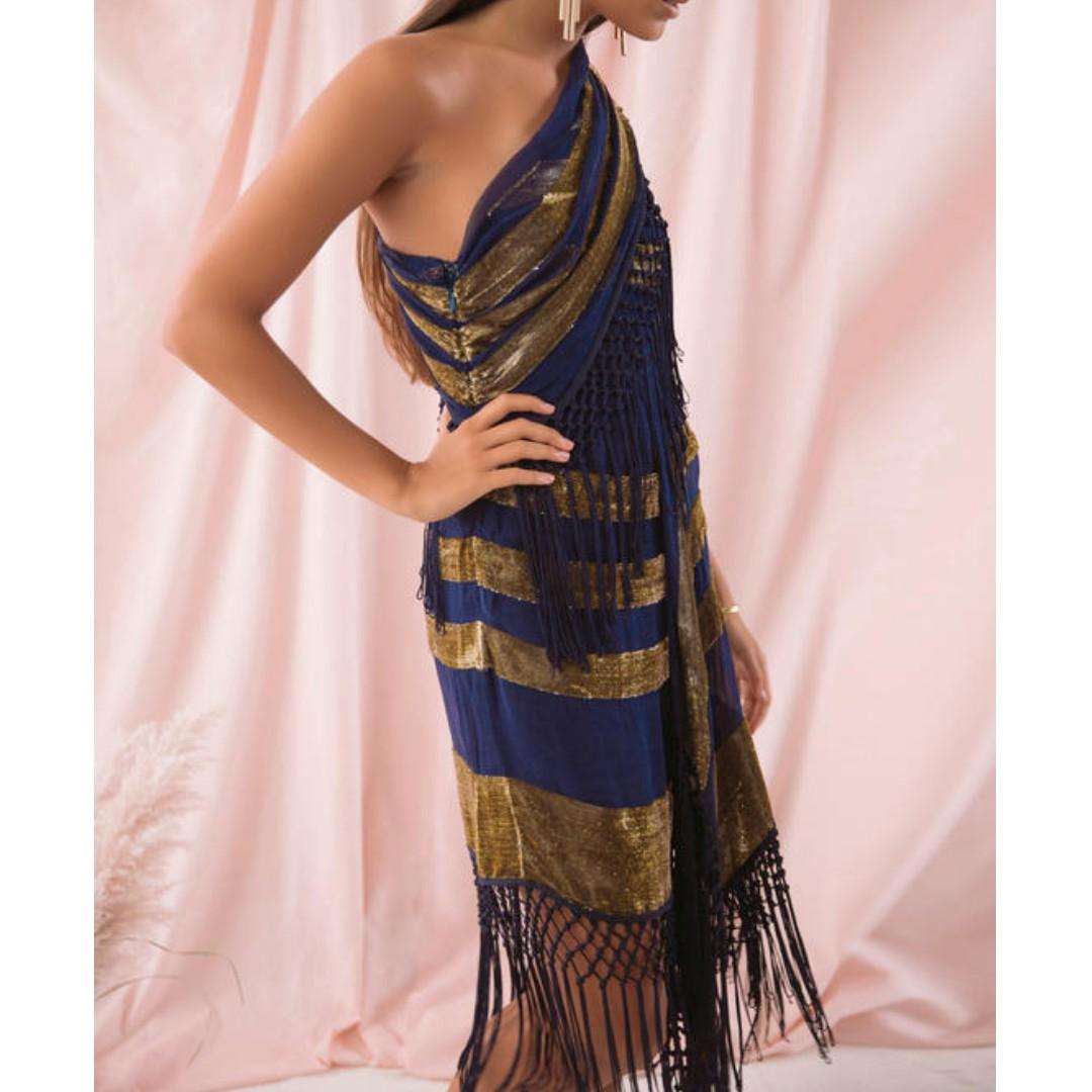 BNWT ALICE MCCALL INK & GOLD FOR HER DRESS - SIZE 10 RRP $490