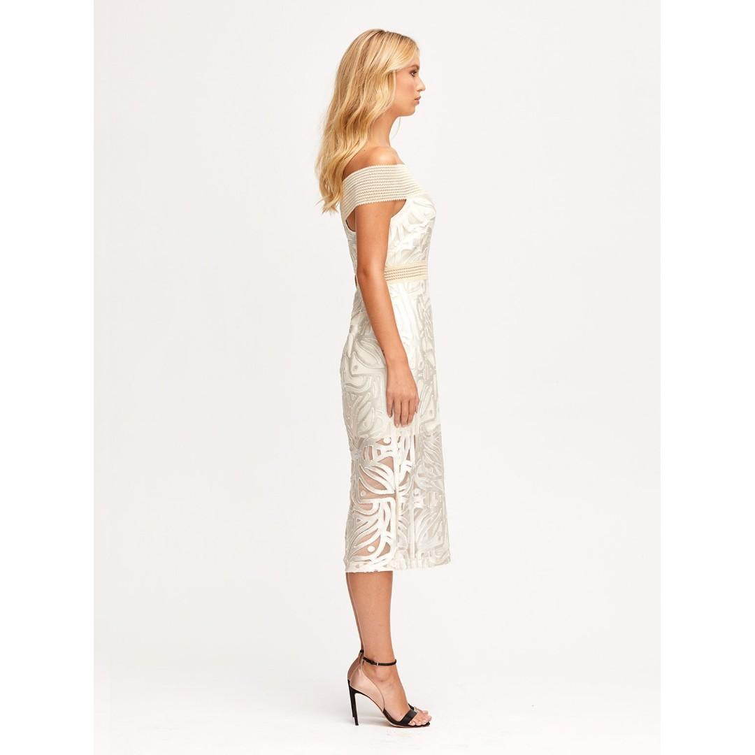 BNWT ALICE MCCALL OATMEAL LUNAR ECLIPSE MIDI DRESS - SIZE 8 AU (RRP $395)