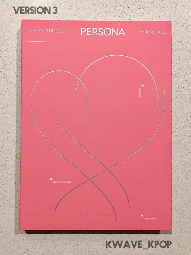 BTS 방탄소년단 MAP OF SOUL :PERSONA ALBUM {PHOTO BOOK +CD +THE NOTES +FILM} VERSION 3