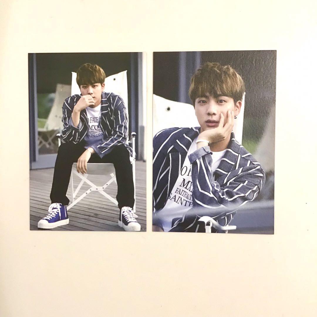 bts jin hyyh on stage photocards set bt21 love yourself wings