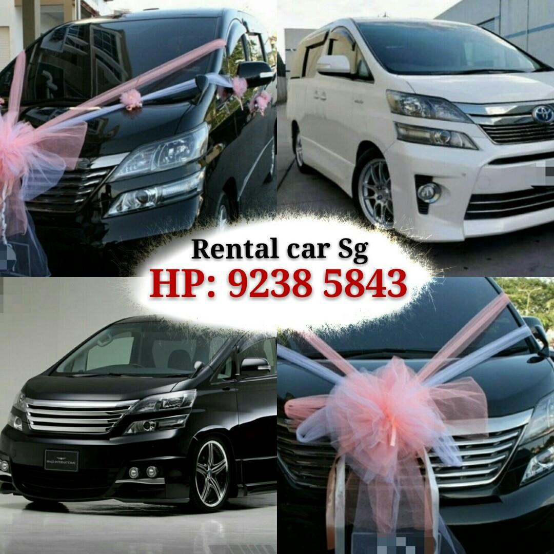 Car Rental MVP Alphard/Vellfire direct WHATSAPP 92385843 Johnson.