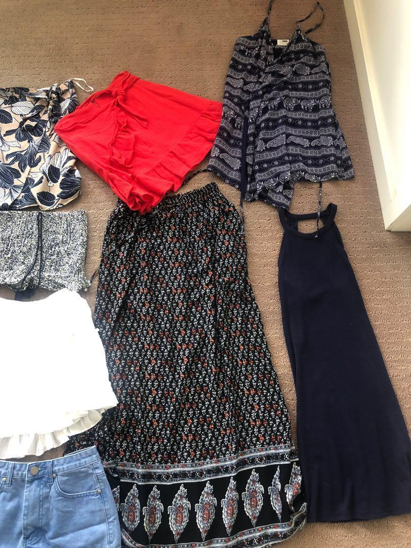 Clothes for sale! DRESSES, TOPS, SKIRTS, SHORTS