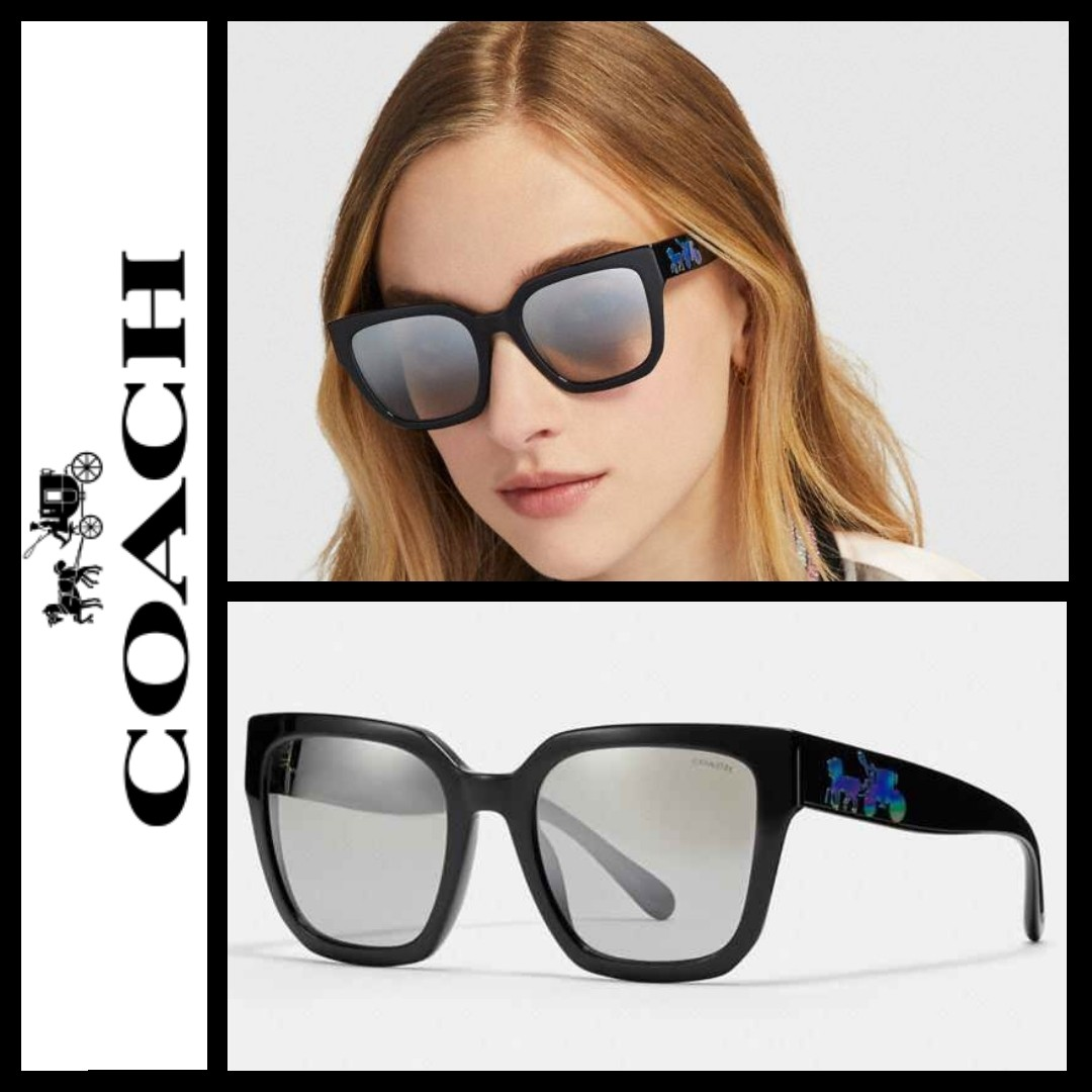 604d0035a78d Coach ASIAN FIT HORSE AND CARRIAGE HOLOGRAM SQUARE SUNGLASSES, Women's  Fashion, Women's Accessories on Carousell