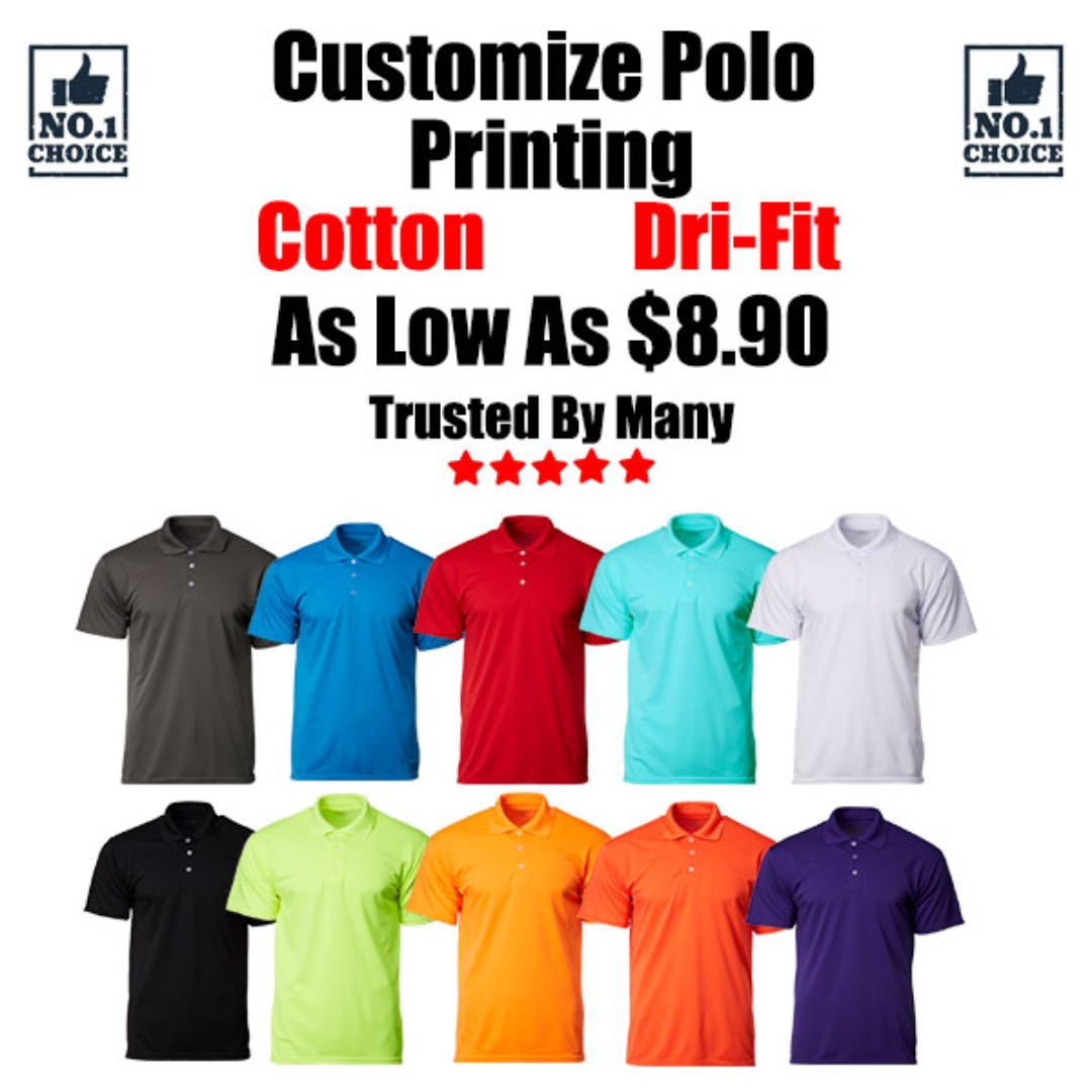 a174f238d Customize Polo Tee Printing, Women's Fashion, Clothes, Tops on Carousell