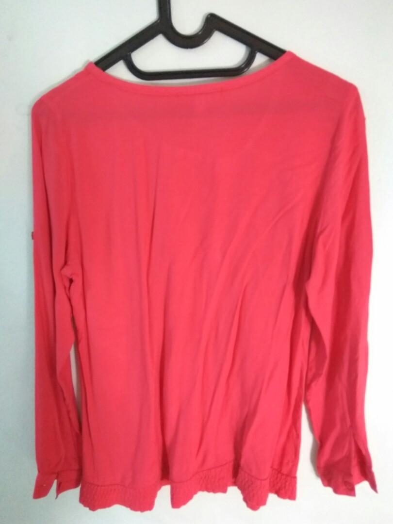 Details Pink Blouse Shirt