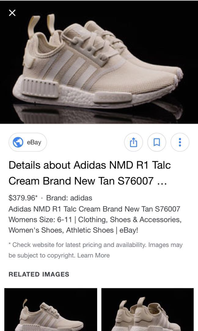 5041497f Exclusive Talc Cream NMD unisex US 8.5, Men's Fashion, Footwear, Sneakers  on Carousell