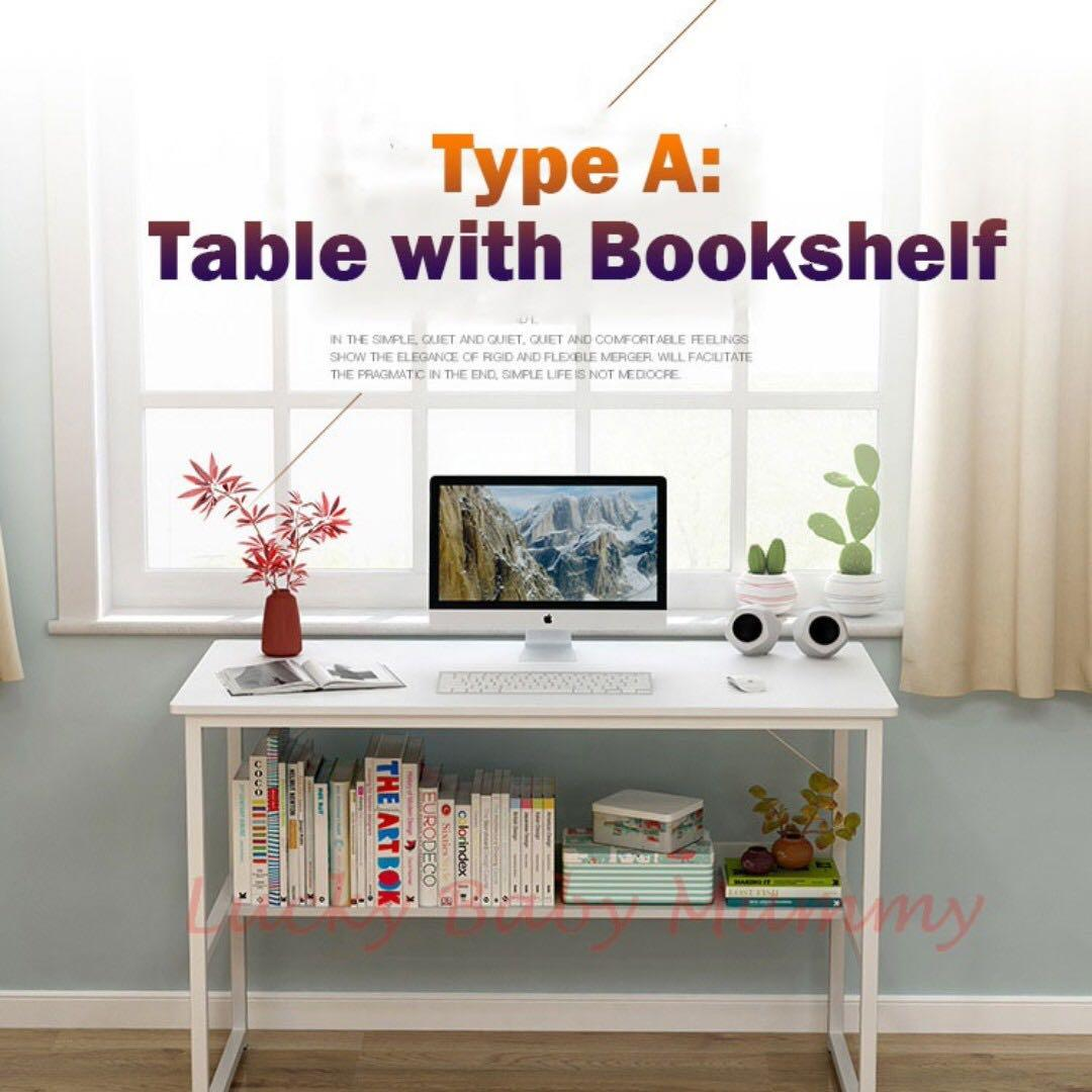 Free Delivery Computer Study Table With Bookshelf Furniture