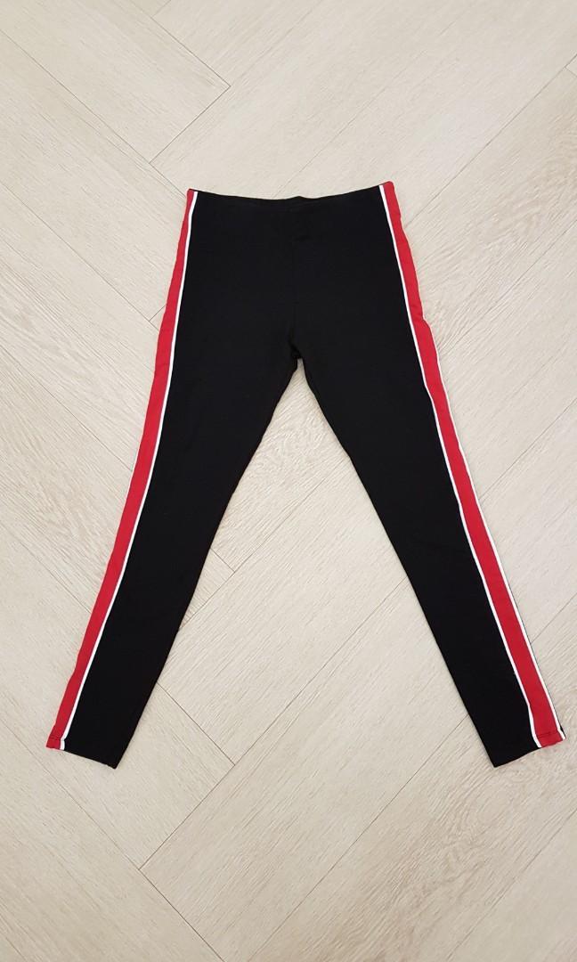 H&M stripe side sporty legging like new