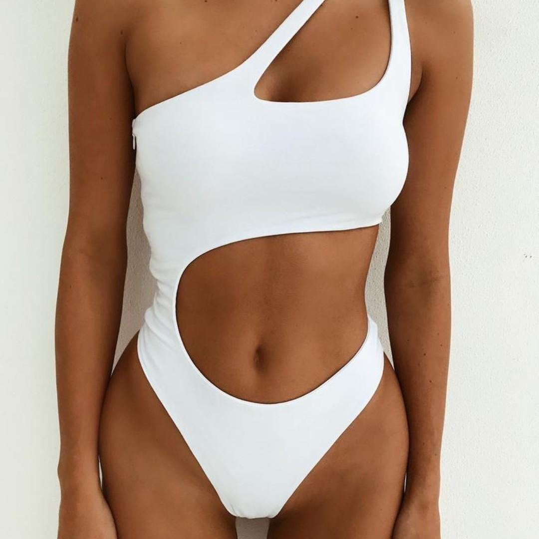 I AM GIA tigermist Saturn Bodysuit White size S Sold Out Online