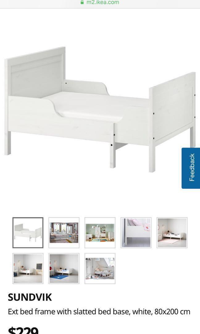 cheap for discount 5fd2c 15341 IKEA SUNDVIK BED FRAME KIDS toddler extendable , Furniture ...