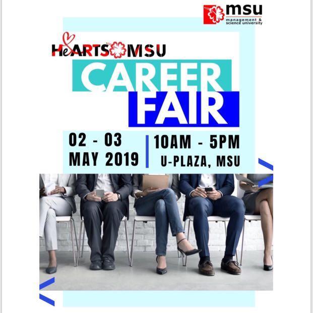 INVITATION AS AN EXHIBITOR AT HeARTS @ MSU CAREER FAIR