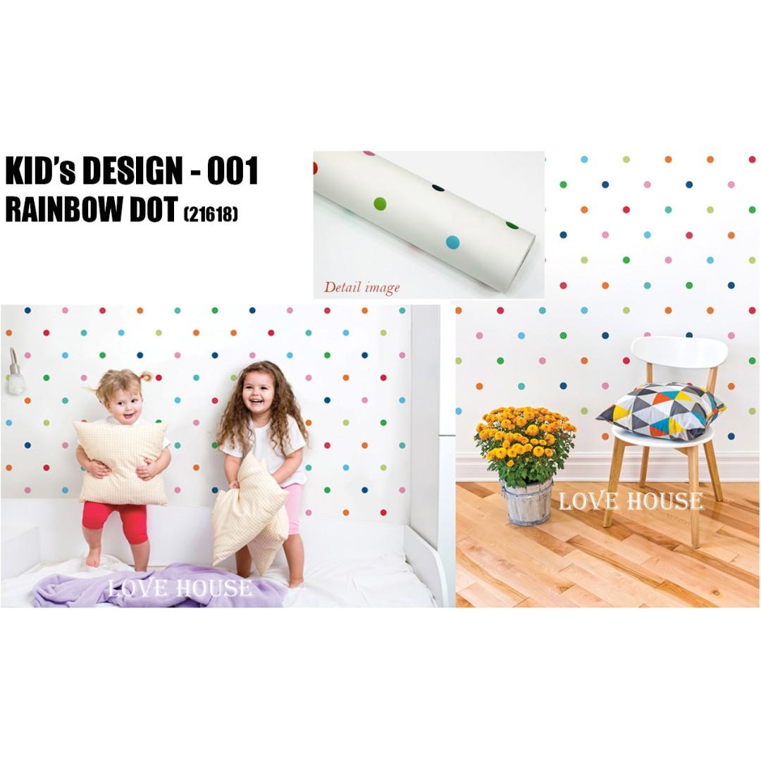 Kids Design Wall Design Wallpaper Cabinet Sticker Furniture
