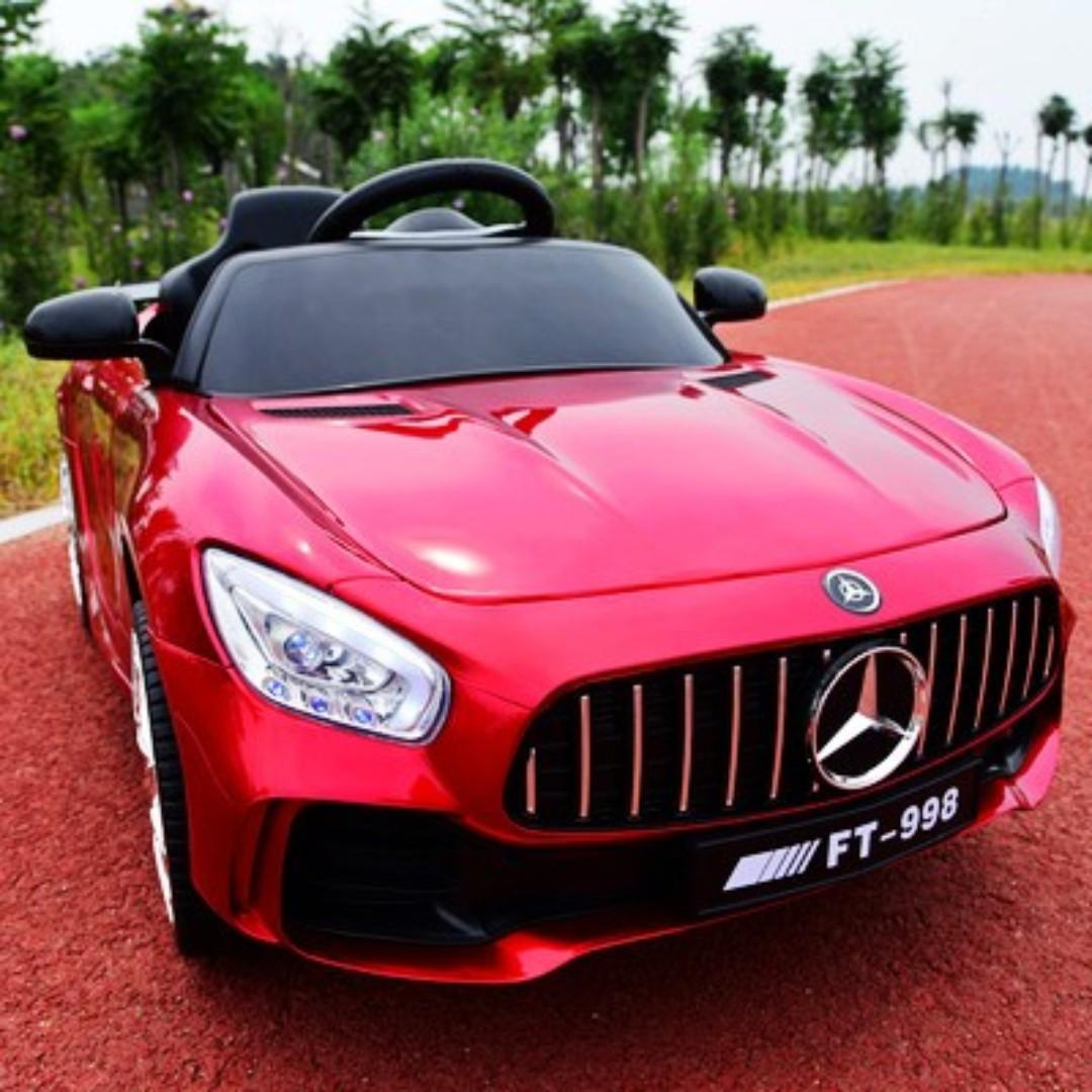 METALLIC COLOR 12V Electric Children Car Mercedes SLS AMG with remote and USB