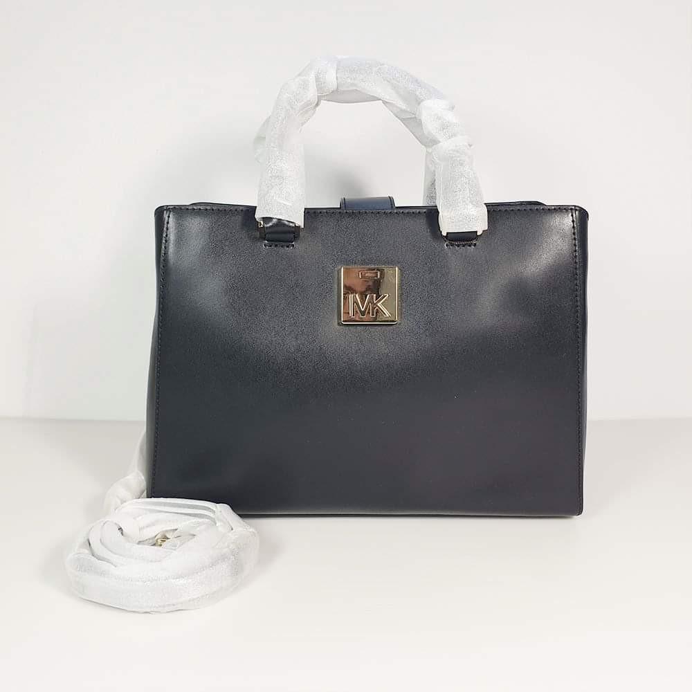 8aa5d478f4f35c Michael Kors - Mindy Satchel Leather Bag with Crossbody Strap ...
