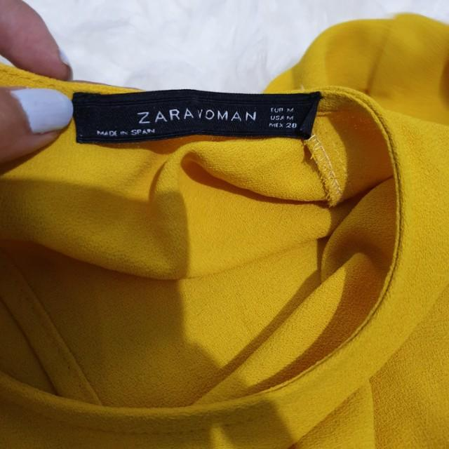 Mididress zara yellow (kuning) mustard