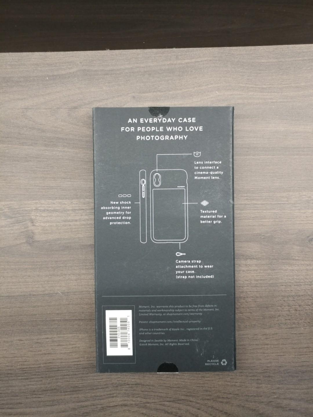 Moment Photo Case for iPhone XR Black