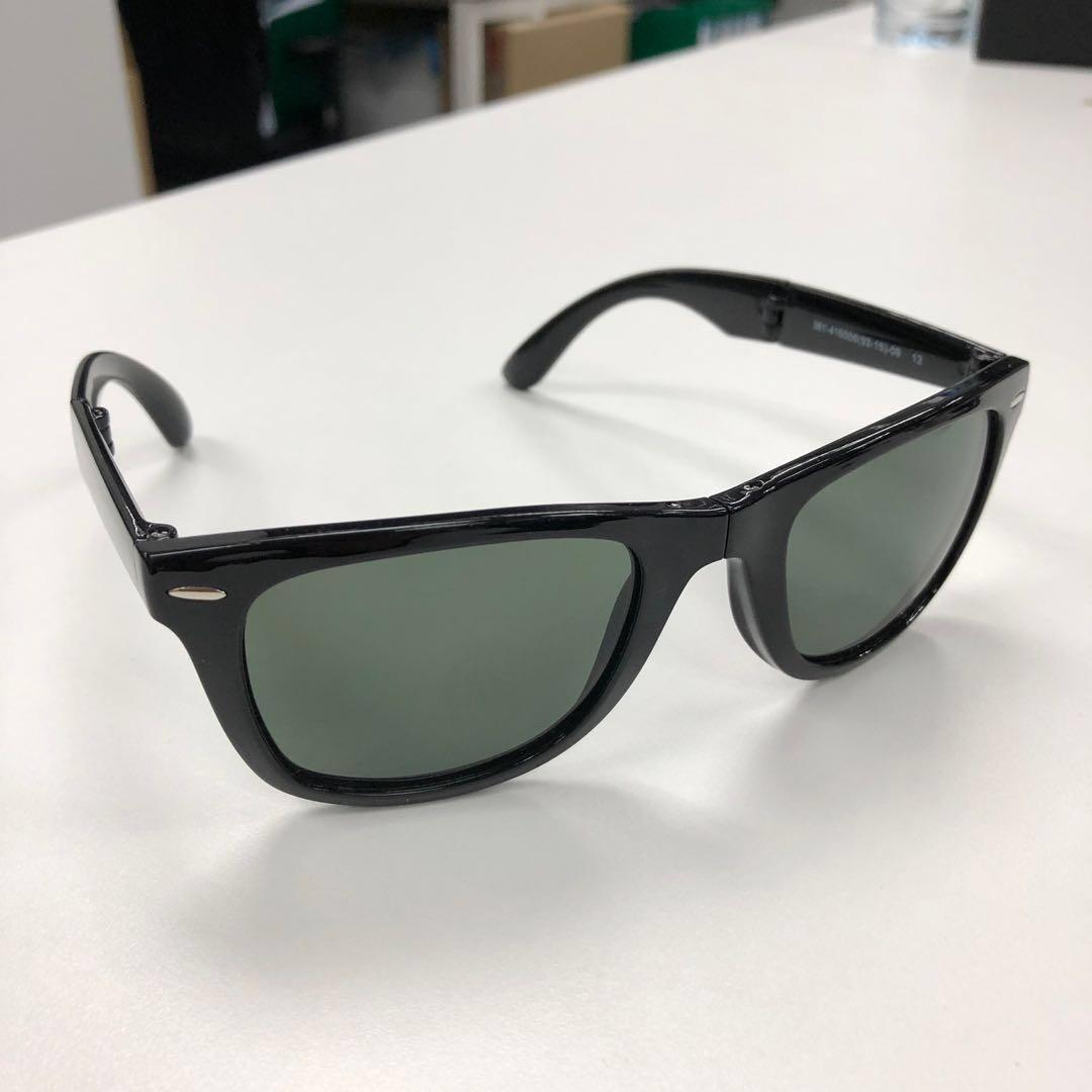"b04b5e419802 NEW W/O BOX"" Uniqlo Wellington Folding Sunglasses (Black Color ..."