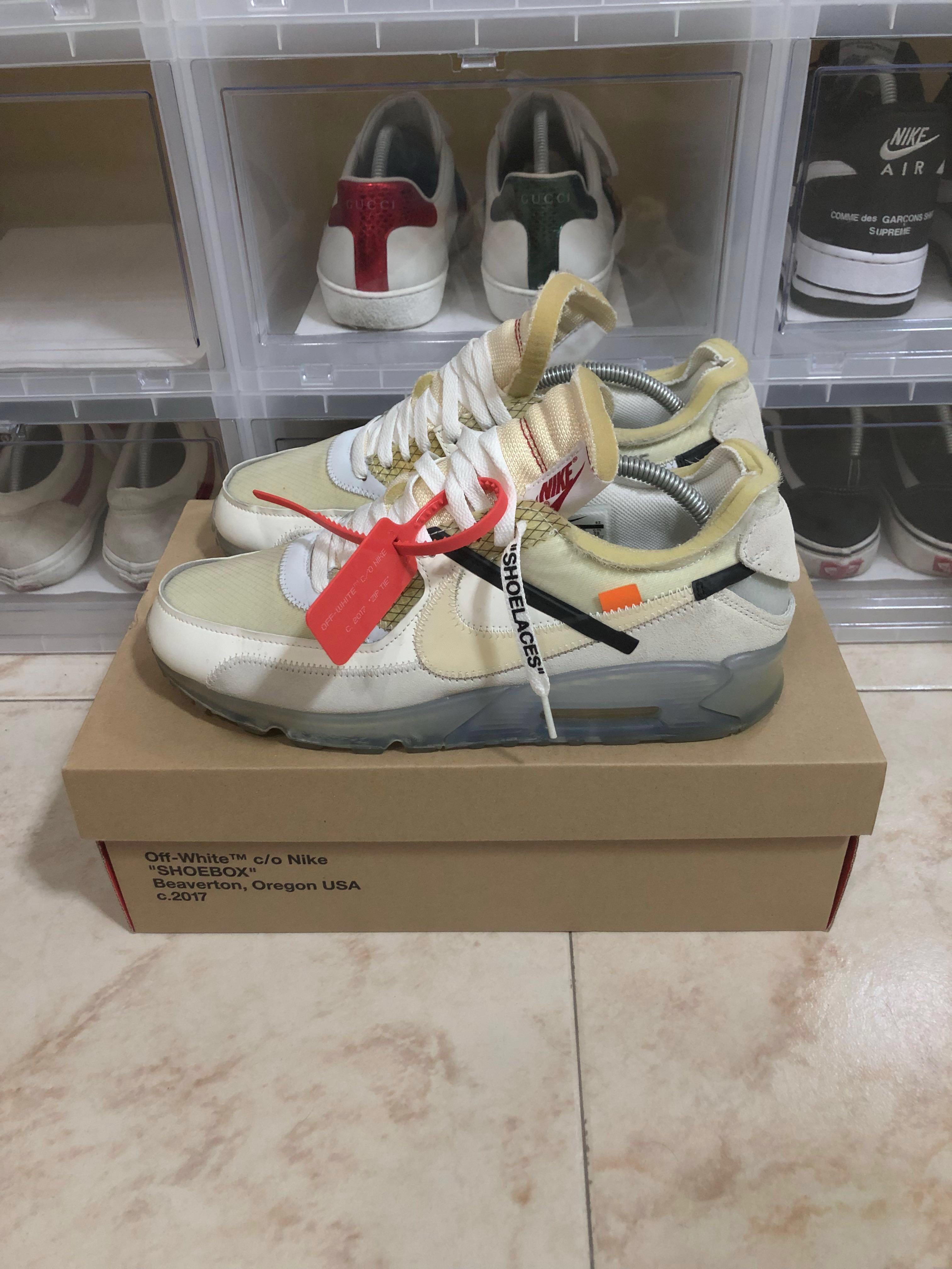 new product 15ab8 df237 Nike Off White Air Max 90 OG US10, Men's Fashion, Footwear ...