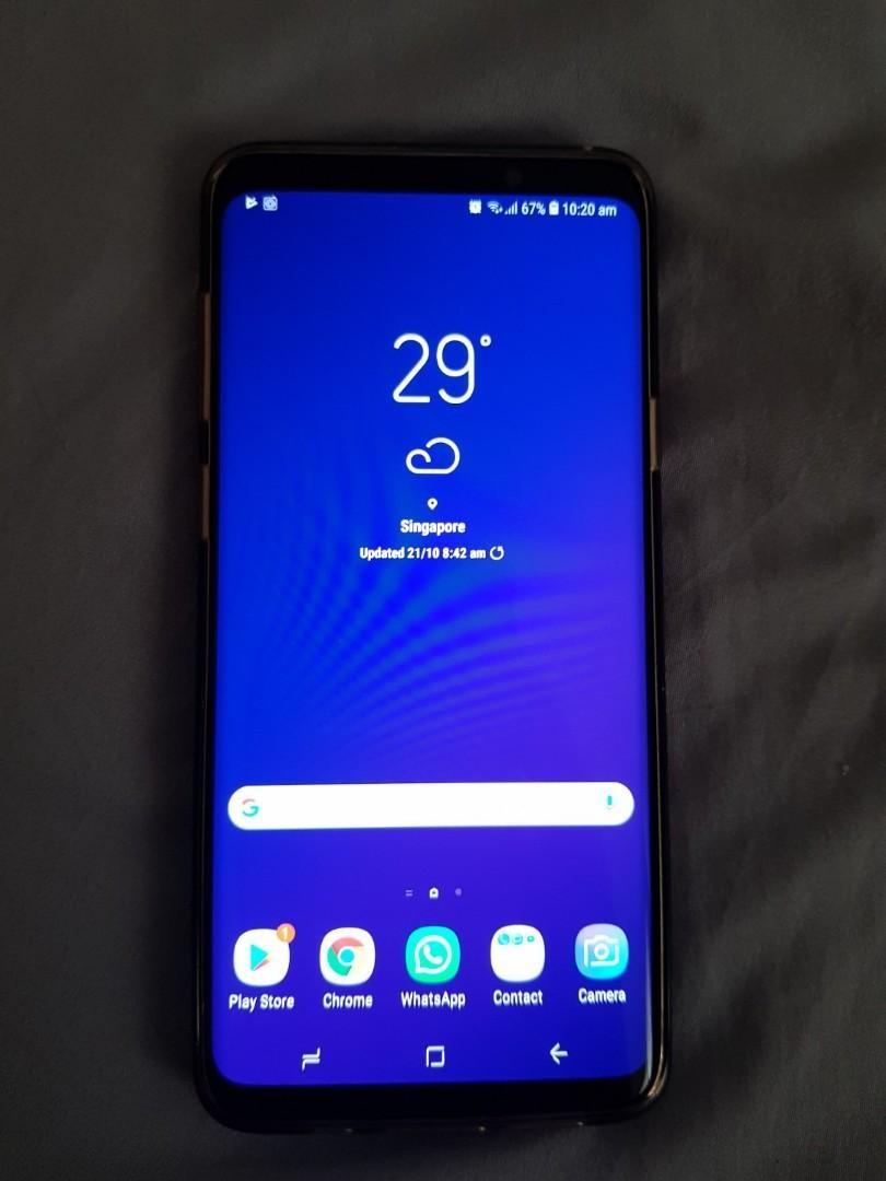 Samsung s9 + s9 plus good condition