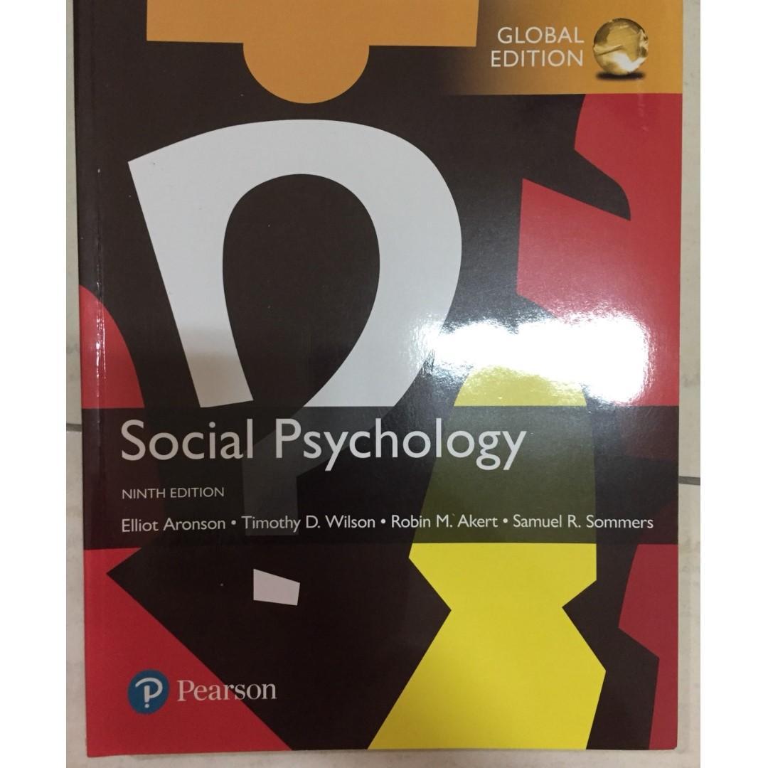 【心理學教科書】Social Psychology, Global Edition, 9th Edition