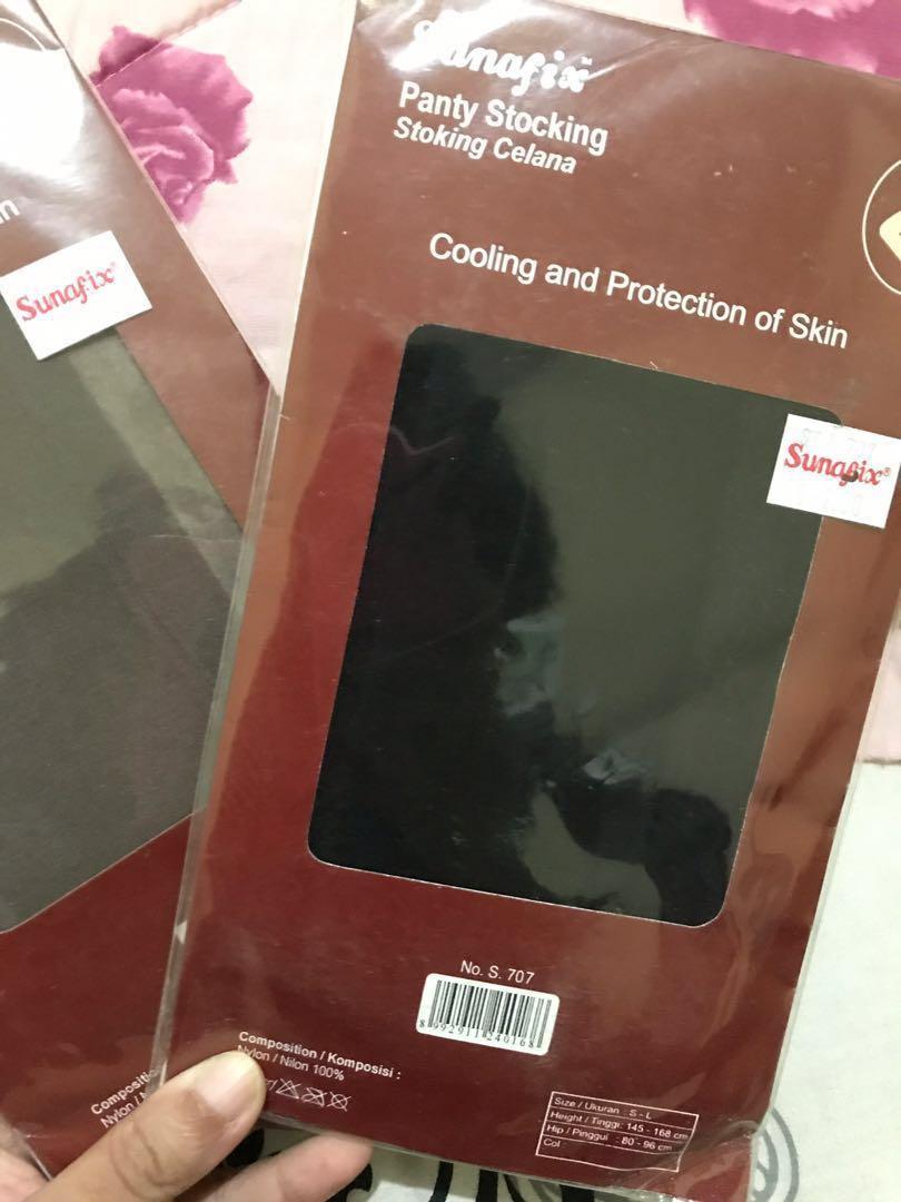 Stocking Hitam dan coklat (black brown)