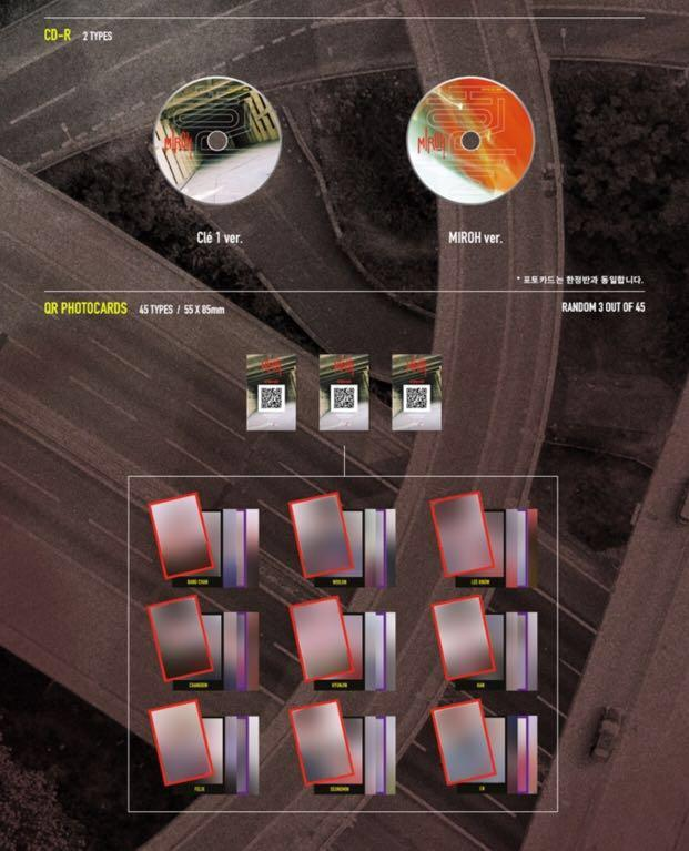 STRAY KIDS -CLE1 :MIROH MINI ALBUM NORMAL ED +PRE-ORDER BENEFITS TILL~18th MARCH