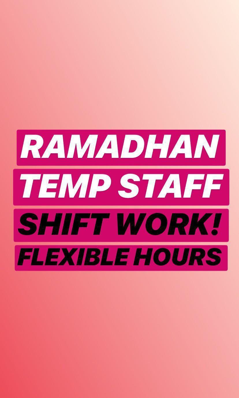 TEMP JOB Bazaar Ramadhan Staff (Muslim only)