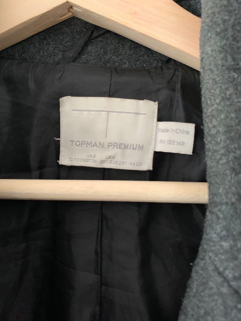 Topman grey Wool Coat