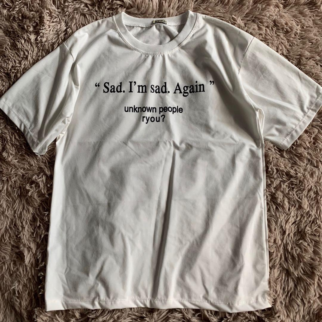 "tumblr quote tee ""sad"" women s fashion clothes tops on carousell"