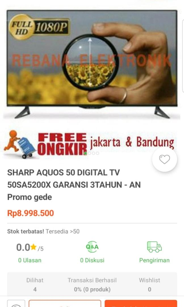 Tv sharp Aquos 50in LC 50SA5200X