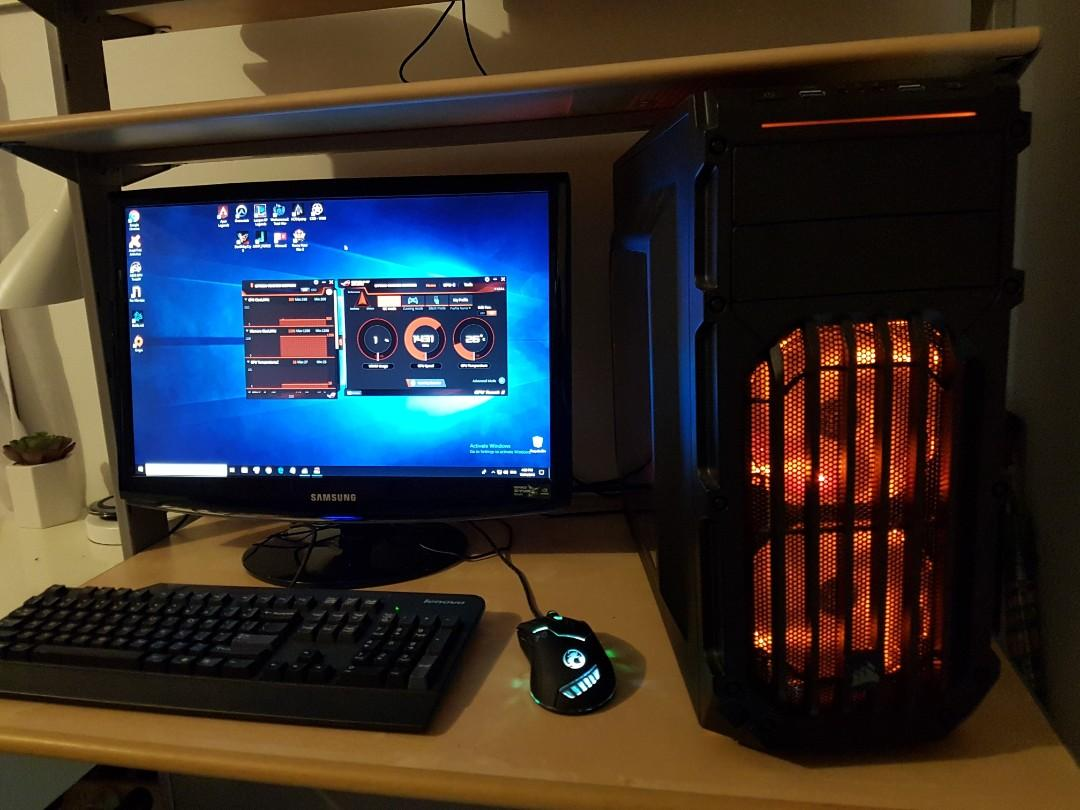 Ultimate Gaming PC with Samsung 3D Monitor and new games installed