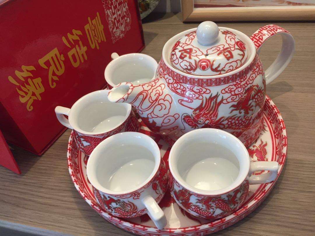 結婚物資-敬茶套裝Wedding Chinese Teapot Set