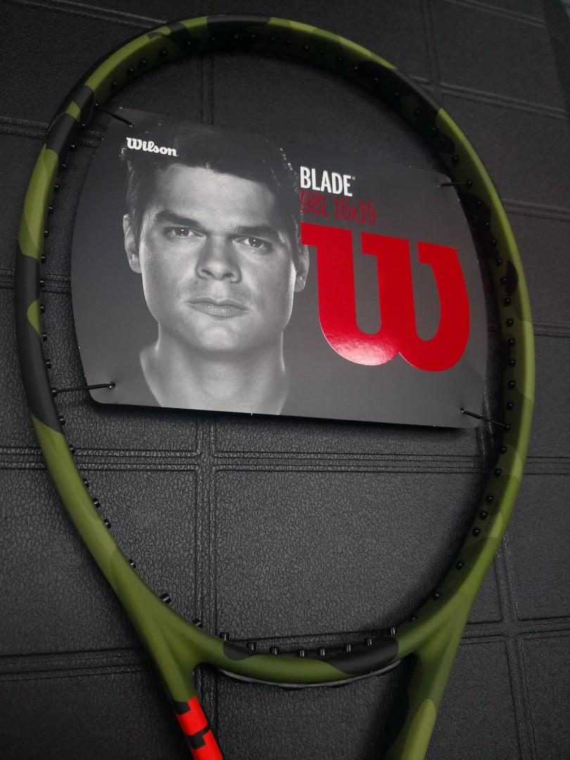 Wilson Blade 98L camo tennis racket