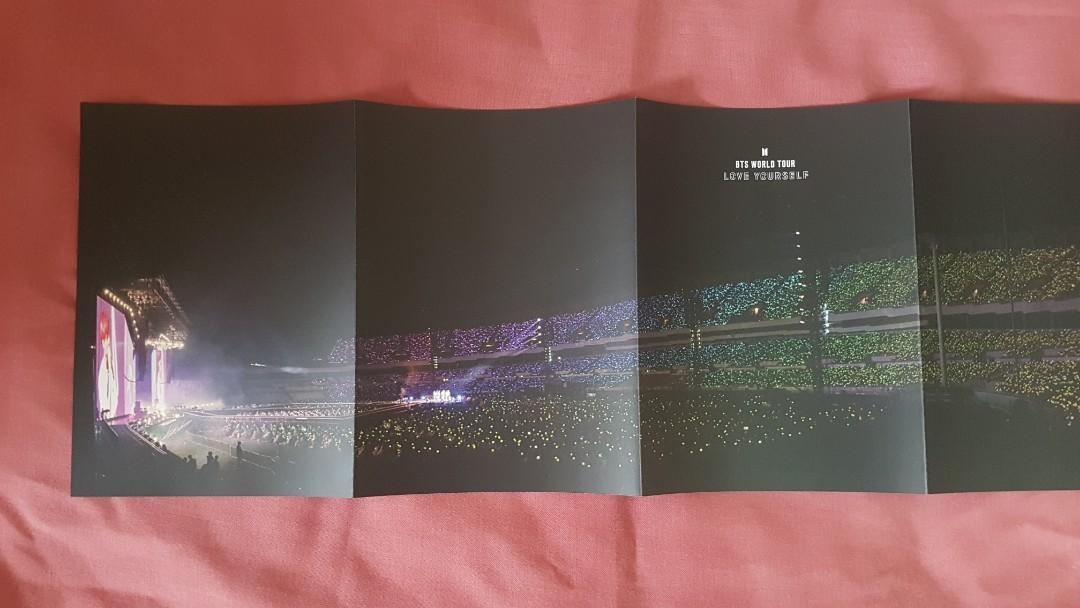 WTS/WTT BTS Love Yourself Tour DVD [ JIN's Fold Poster ]