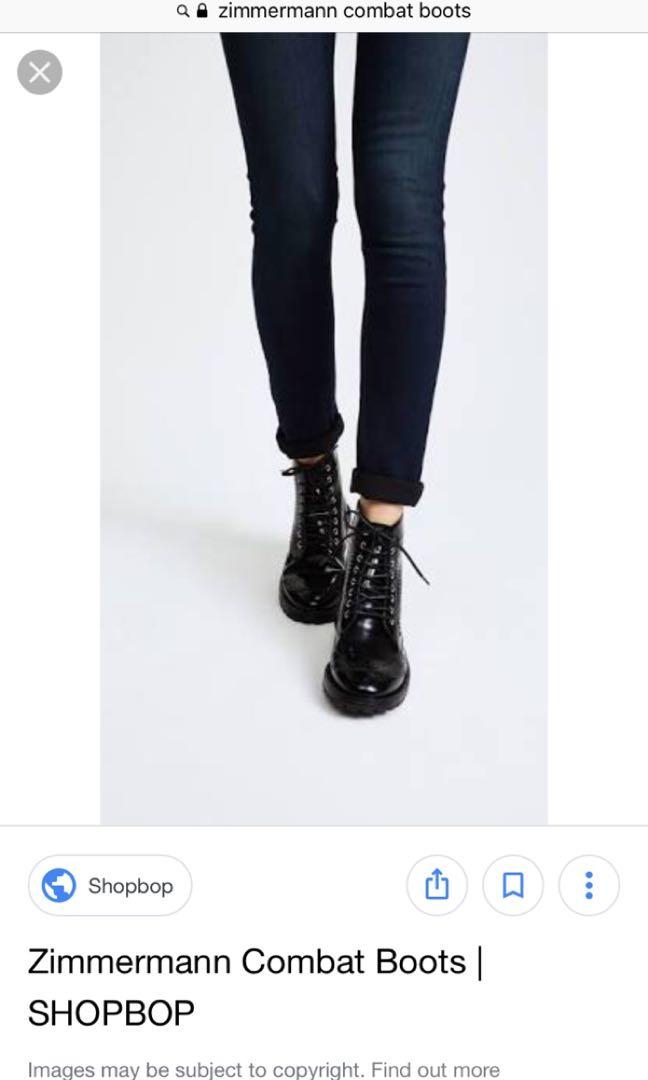 Zimmermann black combat boot