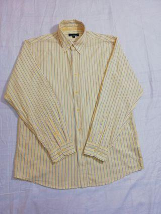 Ngu古著  baleno直條紋純棉襯衫