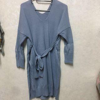 🚚 針織毛衣藍