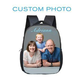 12 inch Customize Your Logo Name Image Toddlers Backpack   Children School Bags Kindergarten Backpack