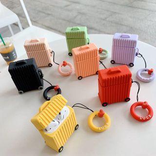 [PO] Airpods Mini Travel Luggage Silicone Case w/ Keychain