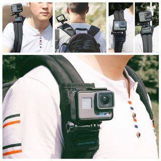 360度魔術貼固定背包肩帶 (適用於GoPro, OsmoPocket和其他運動相機)